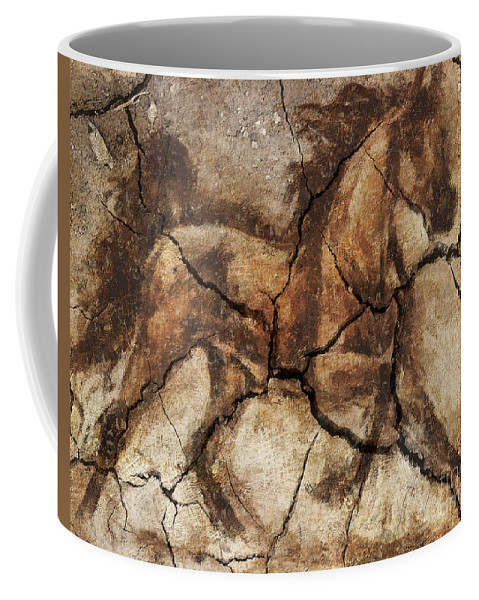 Animal Coffee Mug featuring the drawing A Horse - Cave Art by Dragica Micki Fortuna