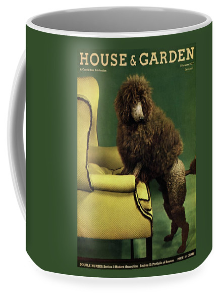 Illustration Coffee Mug featuring the photograph A House And Garden Cover Of A Poodle by Anton Bruehl