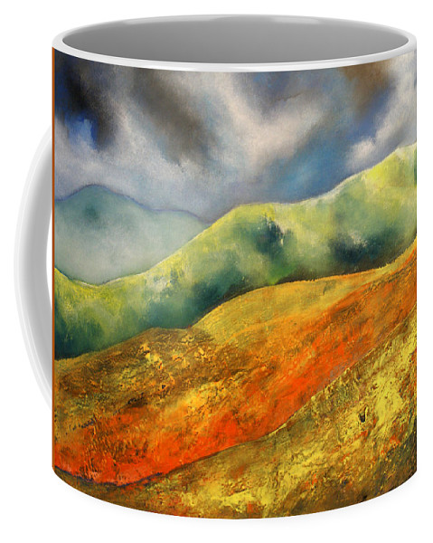 Framed 43 X 33 Inches. Price Includes Frame Coffee Mug featuring the painting A Journey To The Unknown by Isabelle Amante