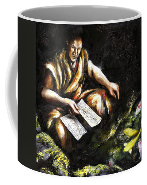 Japanesque Coffee Mug featuring the painting A Letter by Hiroko Sakai