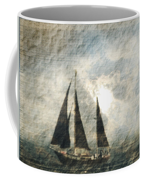 Sailing Coffee Mug featuring the photograph A Light Through The Storm - Sailing by Marie Jamieson