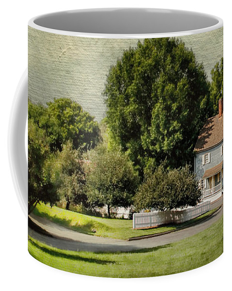 American Coffee Mug featuring the photograph A Little Blue House by Jai Johnson