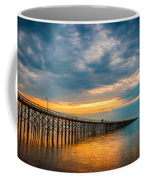 New Jersey Coffee Mug featuring the photograph A Long Way Out by Kristopher Schoenleber
