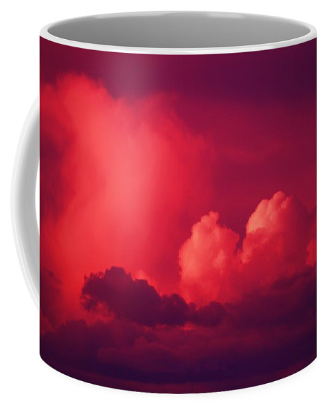 Thunder Coffee Mug featuring the photograph A Looming Thunder Storm by Jeff Swan