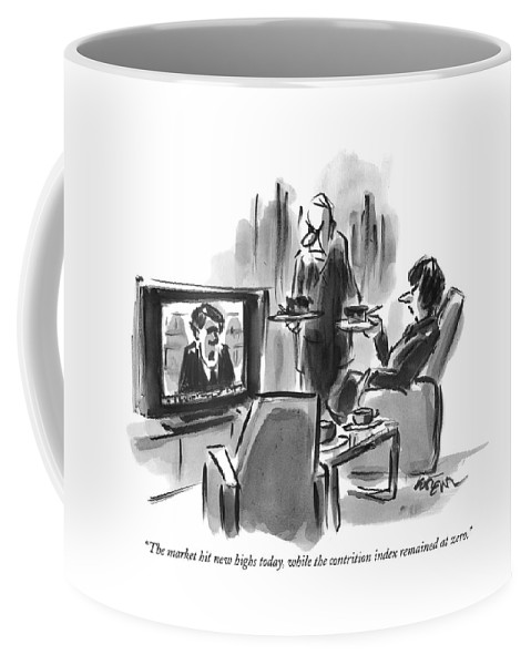 A Man And Woman Are Seen In A Living Room Coffee Mug