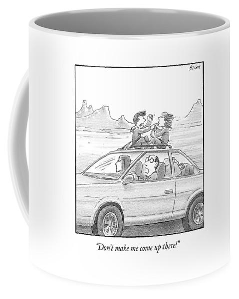 A Man Drives A Car Coffee Mug
