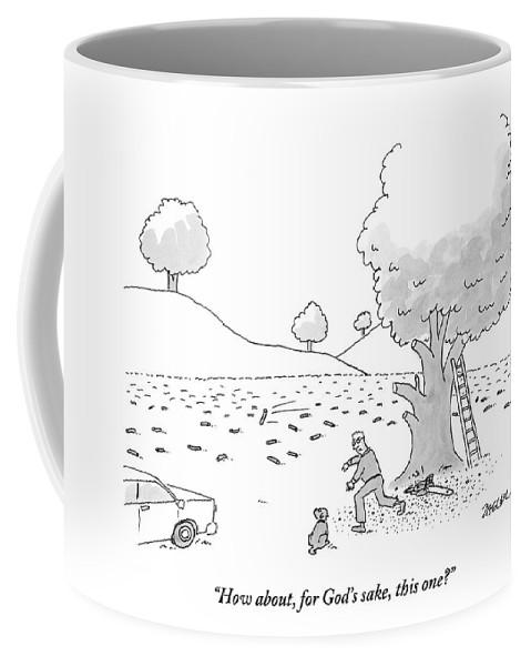 Sticks Mug Seen For Dog Man Throwing Coffee His A Is 6bygf7