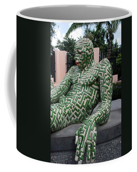 Maze Coffee Mug featuring the photograph A Maze Ing Man 5 by Rob Hans