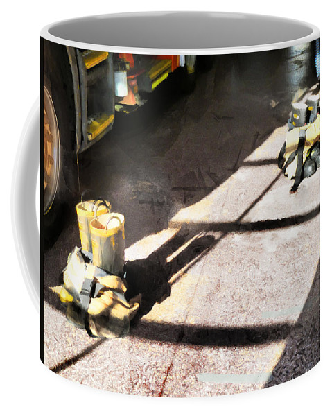 Fire Coffee Mug featuring the photograph A Moment's Notice by Steve Taylor