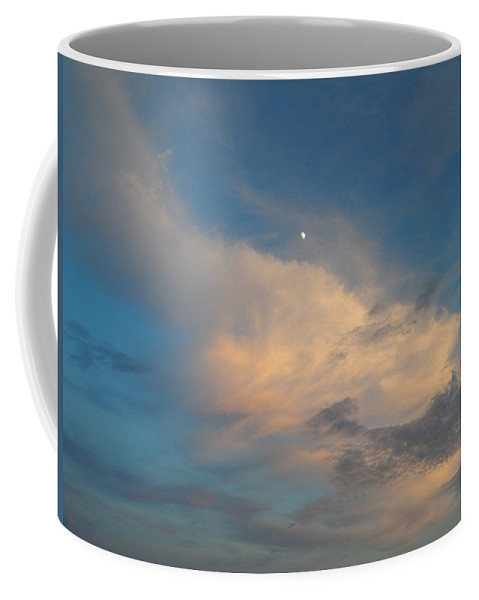 Sky Coffee Mug featuring the photograph A Moon Lit Day by Terry Cobb