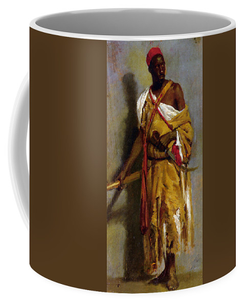 A Morrocan Guard Coffee Mug featuring the digital art A Moroccan Guard by Stefano Ussi