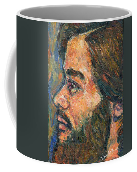 Portrait Coffee Mug featuring the painting A Naturalist by Kendall Kessler