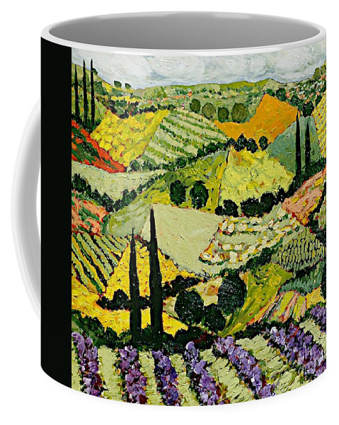 Landscape Coffee Mug featuring the painting A New Season by Allan P Friedlander