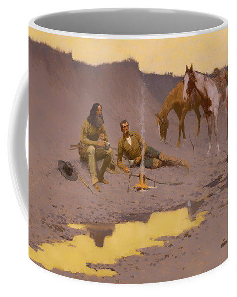 West Coffee Mug featuring the painting A New Year On The Cimarron by Mountain Dreams