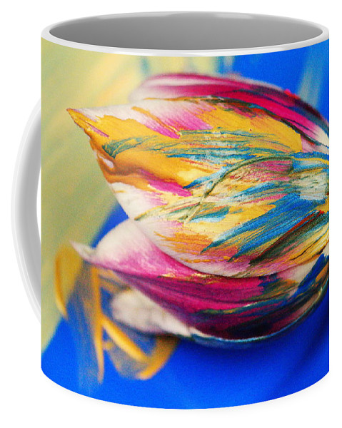 Tulip Coffee Mug featuring the photograph A Painted Tulip. by Jeff Swan