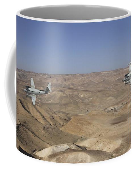 A Pair Of Israeli Air Force B-200 Coffee Mug