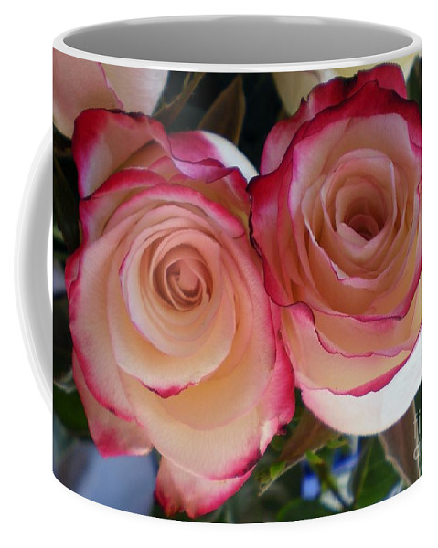 Roses Coffee Mug featuring the photograph A Pair Of Roses by Graciela Castro