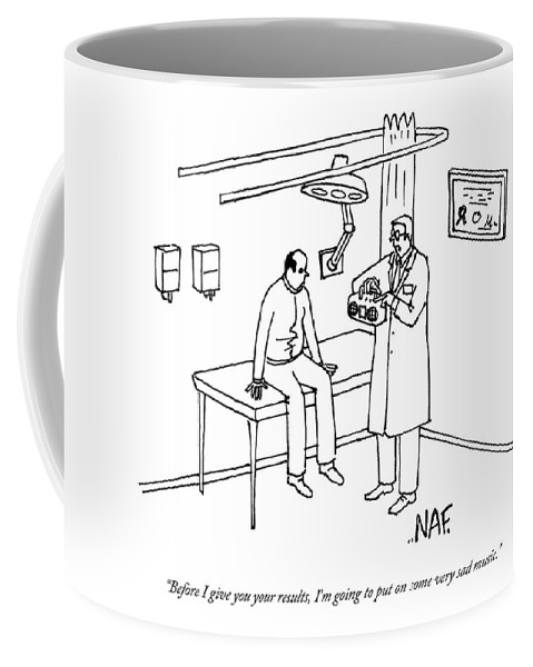 the office coffee mug. Doctor Coffee Mug Featuring The Drawing A Patient Sits On Table In Doctor\u0027s Office