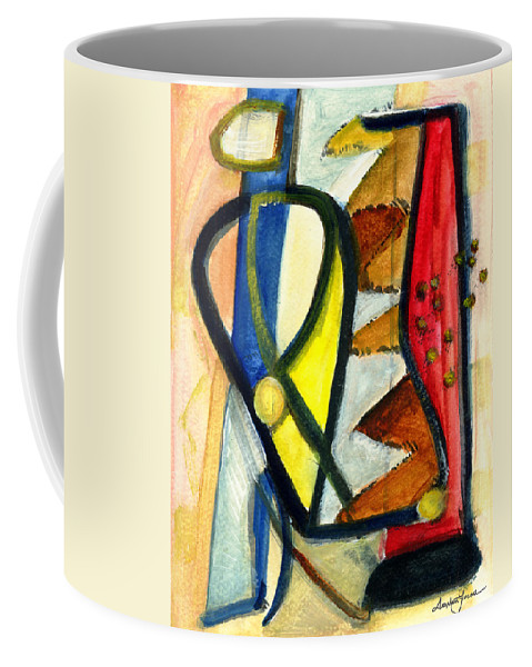 Abstract Art Coffee Mug featuring the painting A Perfect Image by Stephen Lucas