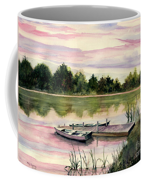 A Place In My Heart Coffee Mug featuring the painting A Place In My Heart by Melly Terpening
