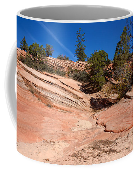 Landscape Coffee Mug featuring the photograph A Pool Of Rock by John M Bailey
