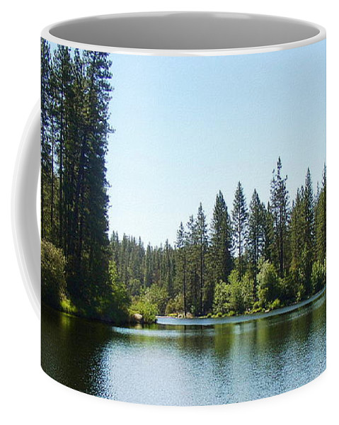 Bass Lake Coffee Mug featuring the photograph A Quiet Place - Bass Lake by Glenn McCarthy Art and Photography