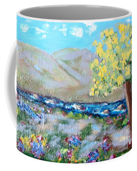 Landscapes Coffee Mug featuring the painting A Quiet Place by Laurie Morgan