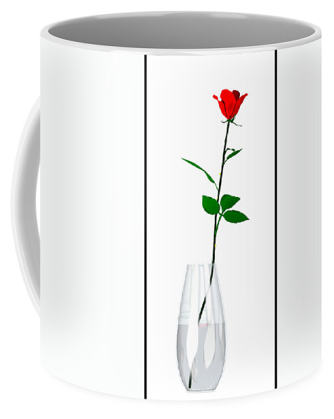 Still Life Coffee Mug featuring the digital art A Rose For The Woman I Love... by Tim Fillingim