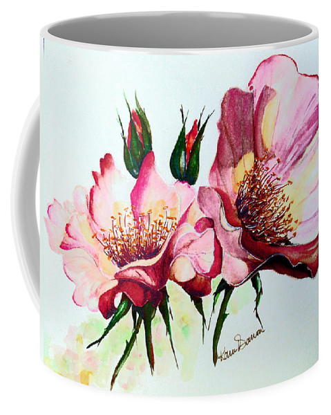 Flower Painting Coffee Mug featuring the painting A Rose Is A Rose by Karin Dawn Kelshall- Best