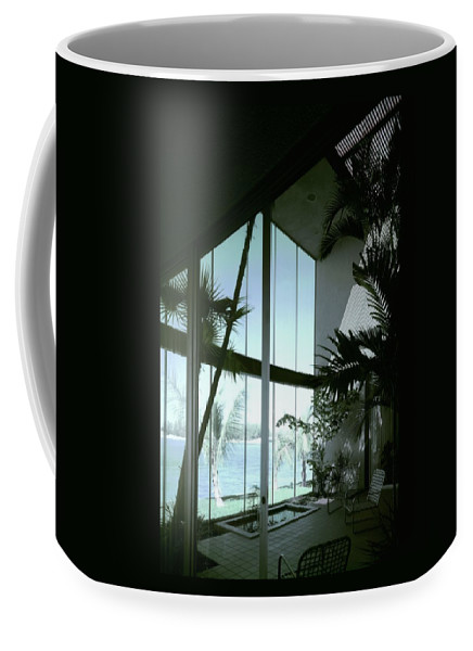 Architecture Coffee Mug featuring the photograph A Screened Patio by Robert M. Damora