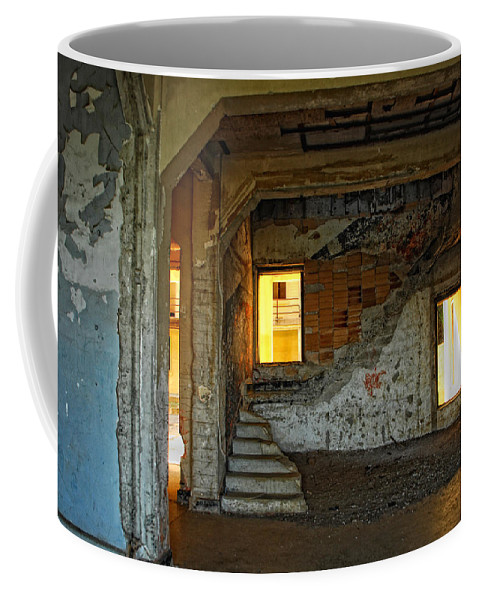Old Buildings Coffee Mug featuring the photograph A Sense Of Abandonment by Donna Blackhall