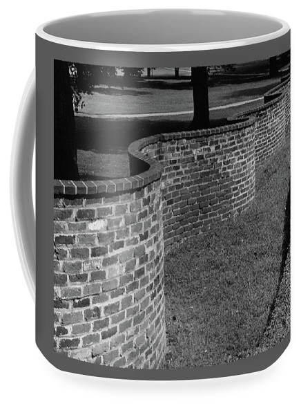 Exterior Coffee Mug featuring the photograph A Serpentine Brick Wall by William and Neill Dingledine