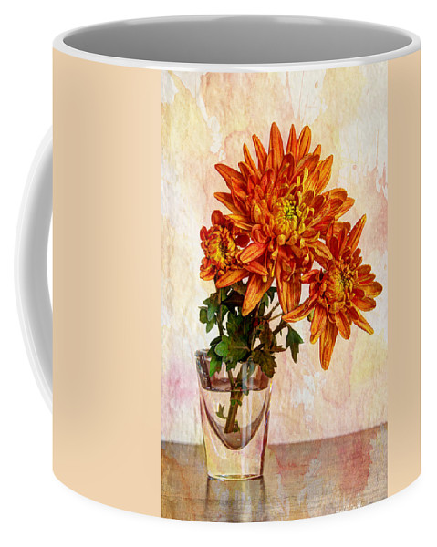 Autumn Coffee Mug featuring the photograph A Shot Of Mums by Heidi Smith
