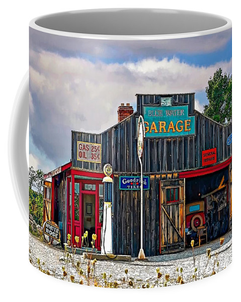 Oil Coffee Mug featuring the photograph A Simpler Time Painted Version by Steve Harrington