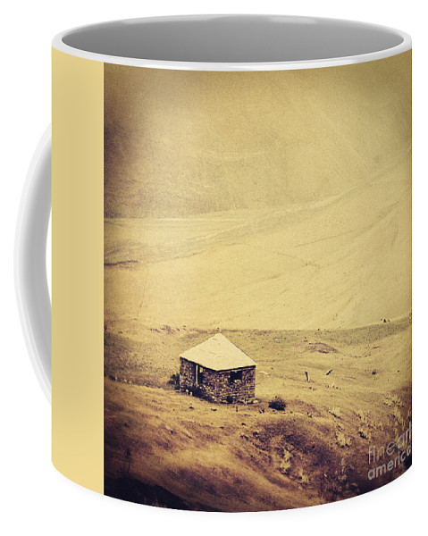Azerbaijan Coffee Mug featuring the photograph A Single House by Emily Kay
