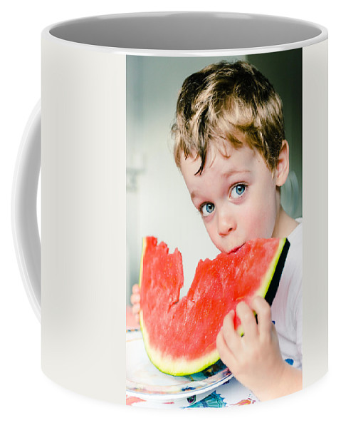 Blue Eyes Coffee Mug featuring the photograph A Slice Of Life by Marco Oliveira