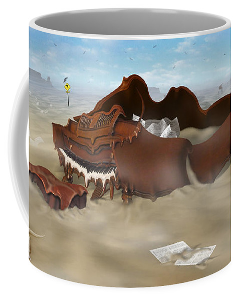 Surrealism Coffee Mug featuring the photograph A Slow Death In Piano Valley by Mike McGlothlen
