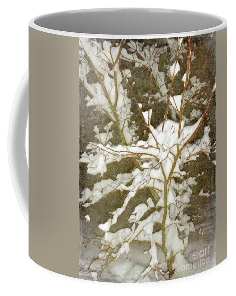 Snow Coffee Mug featuring the photograph A Snowy Tree by Alys Caviness-Gober