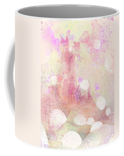 Landscape Coffee Mug featuring the digital art A Sparrow Sings Alone by Rachel Christine Nowicki