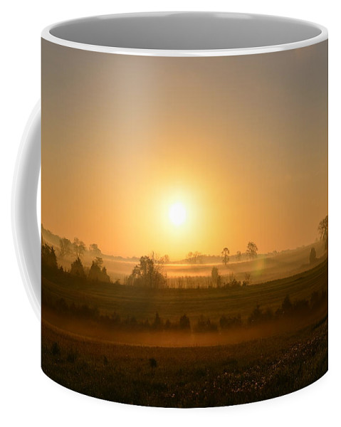 Spring Coffee Mug featuring the photograph A Spring Morning At Gettysburg by Bill Cannon
