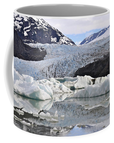 Mendenhall Glacier Coffee Mug featuring the photograph A Spring Past by Cathy Mahnke