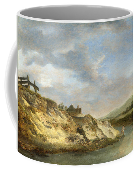 Philips Wouwerman Coffee Mug featuring the painting A Stream In The Dunes With Two Bathers by Philips Wouwerman