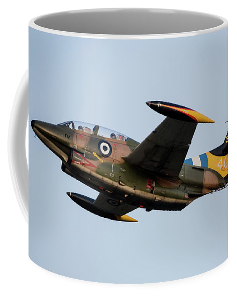 Greece Coffee Mug featuring the photograph A T-2e Buckeye Trainer Aircraft by Timm Ziegenthaler