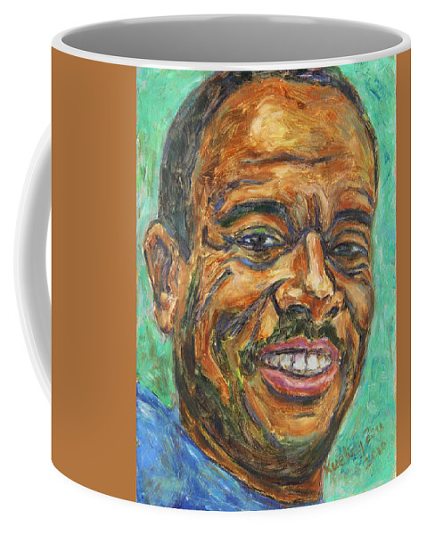 African American Coffee Mug featuring the painting A Teacher From Atlanta Ga by Xueling Zou
