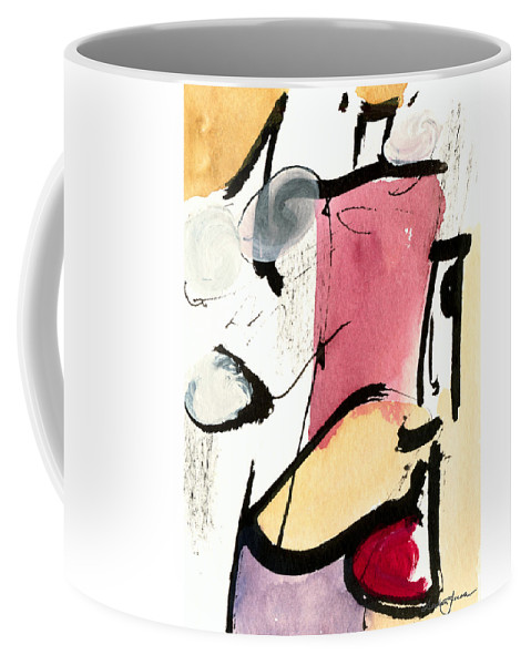 Abstract Art Coffee Mug featuring the painting A Thing Of Beauty by Stephen Lucas