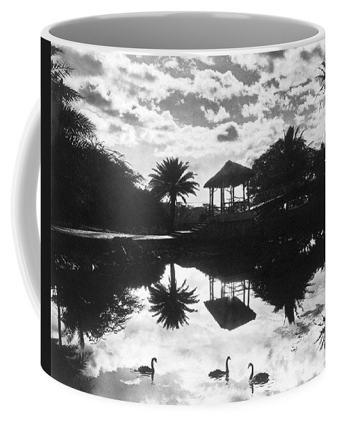 1930 Coffee Mug featuring the photograph A Tranquil Scene In Hawaii by Underwood Archives