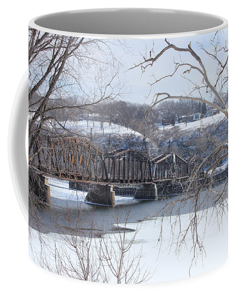 Railroad Coffee Mug featuring the photograph A Trip To Somewhere by Tiffany Erdman