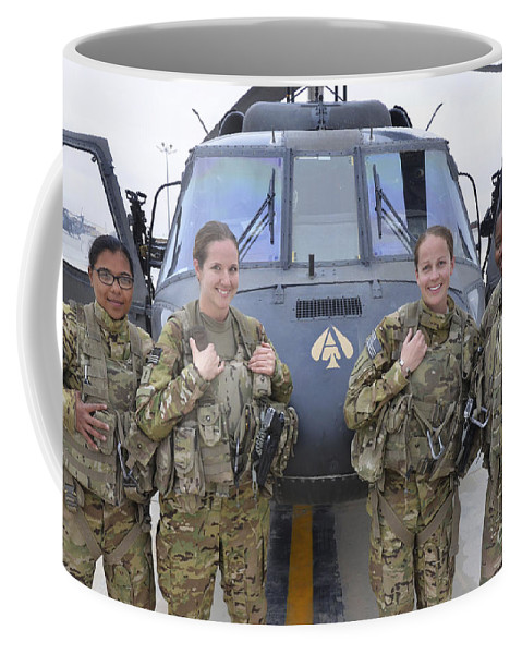 Horizontal Coffee Mug featuring the photograph A U.s. Army All Female Crew by Stocktrek Images