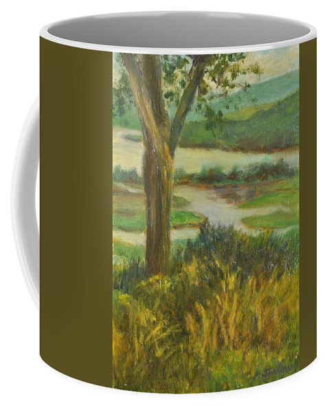 Hudson River Coffee Mug featuring the painting A View From Boscobel by Phyllis Tarlow