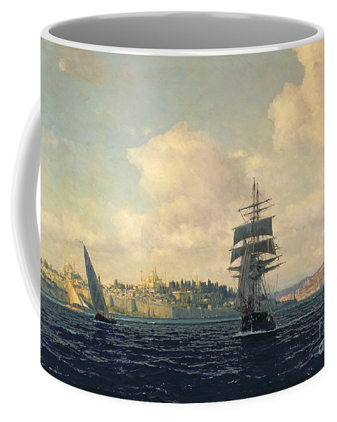 Boat Coffee Mug featuring the painting A View Of Constantinople by Michael Zeno Diemer